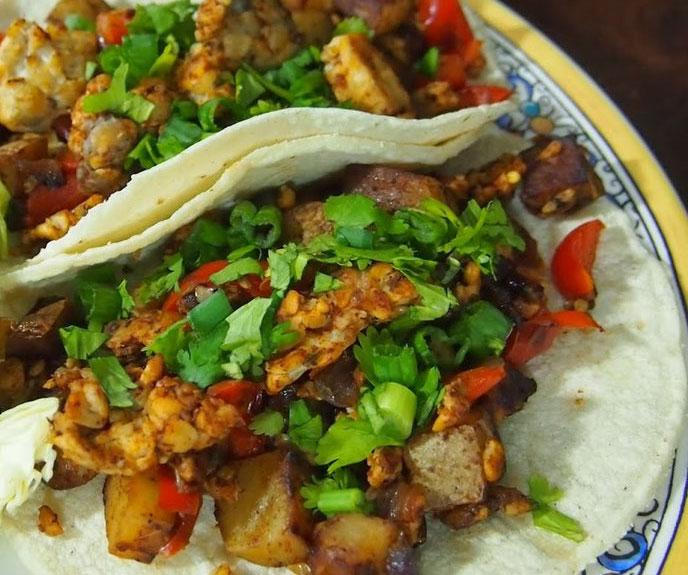 Vegan Chorizo Tempeh Taco